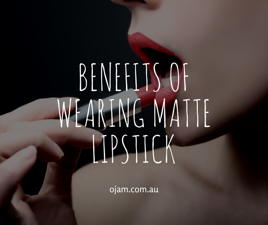 benefits of wearing matte lipstick