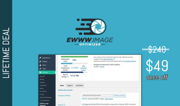 EWWW Image Optimizer Lifetime Deal for $49