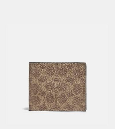 Fashion 4 - 3-In-1 Wallet In Colorblock Signature Canvas