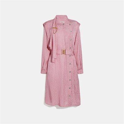 Fashion 4 - Abstract Jacquard Drape Belted Dress