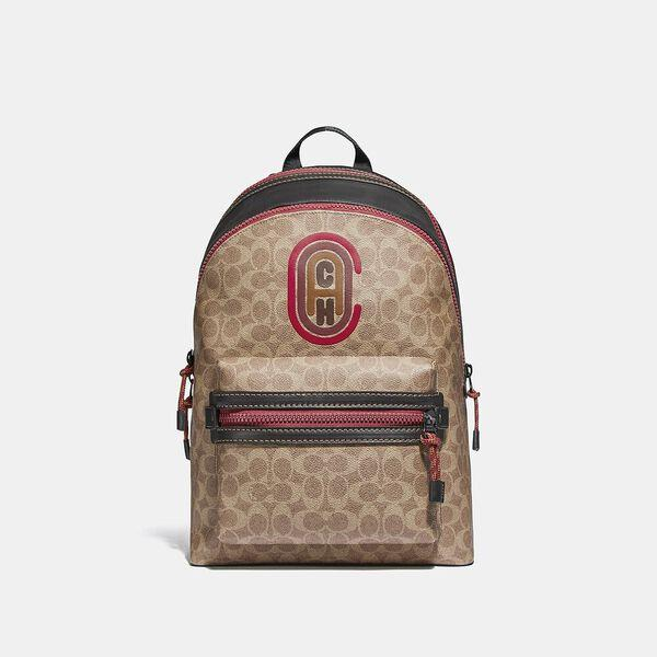 Fashion 4 - Academy Backpack In Signature Canvas With Coach Patch