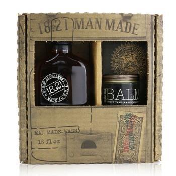OJAM Online Shopping - 18.21 Man Made Man Made Wash & Balm Set - # Spiced Vanilla: 1x Shampoo