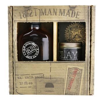 OJAM Online Shopping - 18.21 Man Made Man Made Wash & Clay Set - # Sweet Tobacco: 1x Shampoo