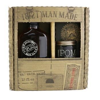 OJAM Online Shopping - 18.21 Man Made Man Made Wash & Pomade Set - # Sweet Tobacco: 1x Shampoo