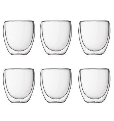 OJAM Online Shopping - Bodum Pavina Double Wall Glasses Medium 250ml Box of 6